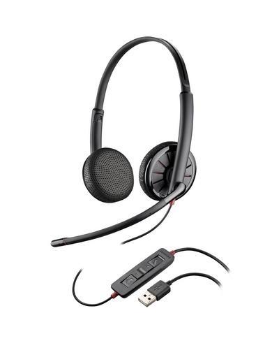 Blackwire C325,проводная USB гарнитура (стерео, искуст. кожа, чехол)